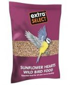 Extra Select Sunflower Hearts: various bag sizes